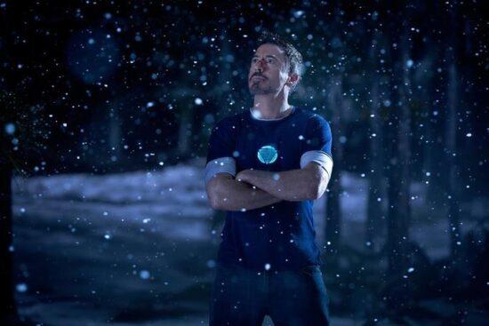 robert downey jr as tony stark aka iron man in iron man 3 marvel christmas movie