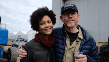 thandie newton (left) and ron howard (right)