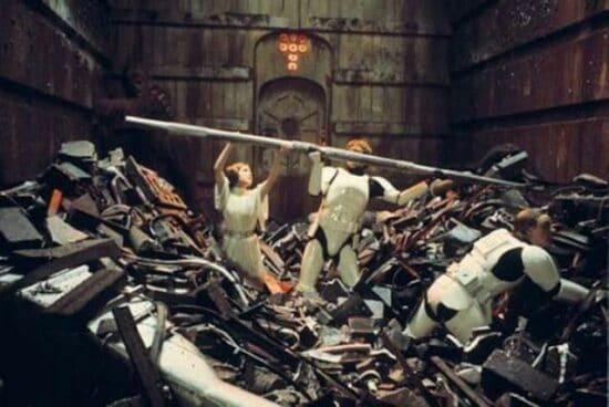 trash compactor scene star wars a new hope