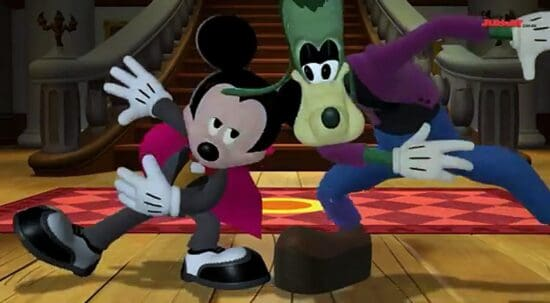 monster boogie, mickey and goofy