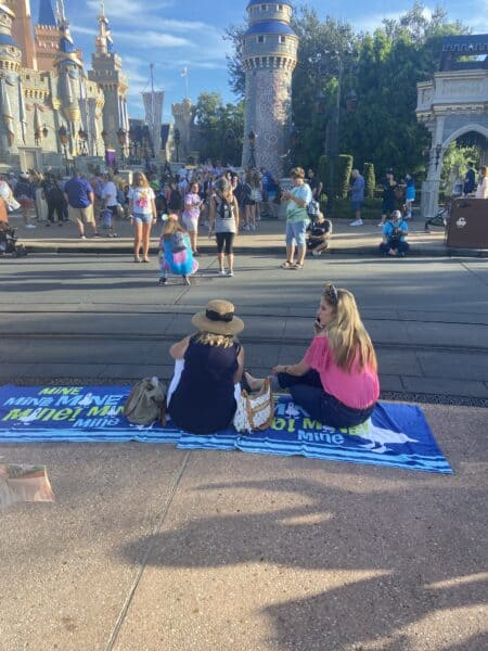 Guests camp out for disney enchantment at magic kingdom
