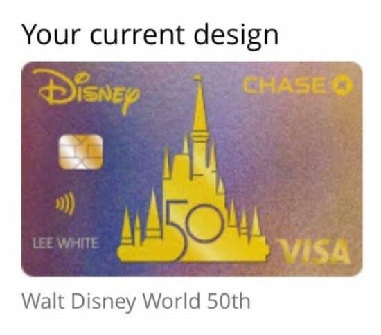 Disney Chase VISA 50th anniversary credit card design