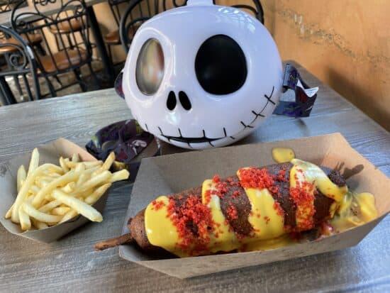 Spicy Corn Dog from Stage Door Cafe in Frontierland (Disneyland)