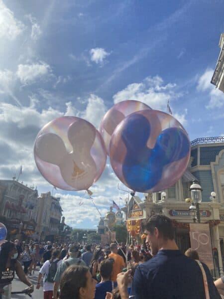 New EARidescent balloons at magic kingdom