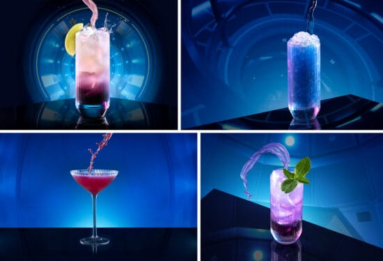 drinks at space 220 restaurant at epcot
