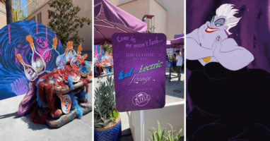 fanta eel-lectric lounge at disney california adventure, ursula from disney's the little mermaid