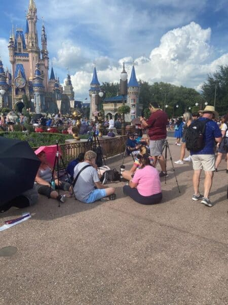 Guests waiting for disney enchantment