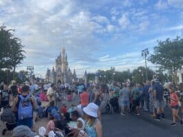 Magic kingdom crowds on happily ever after finale night