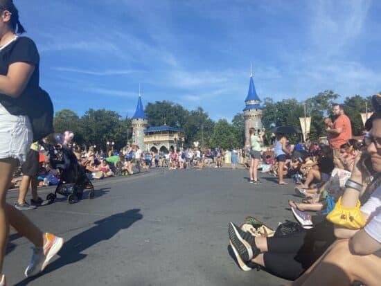 Disney fans waiting for magic kingdom cavalcade on 50h anniversary
