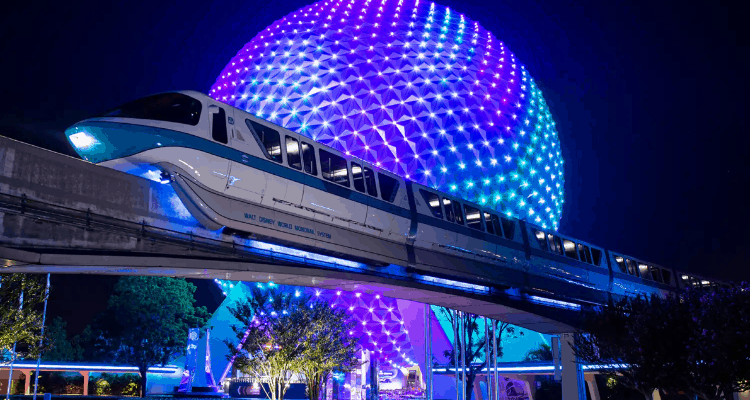 Monorail lighting for 50th anniversary
