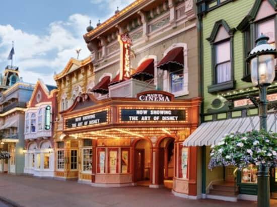 Main Street cinema at magic kingdom