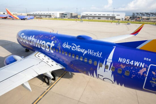 Southwest Airlines disney world plane