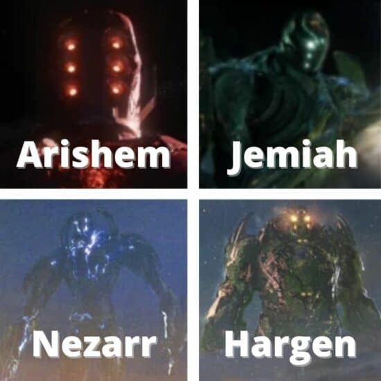 Marvel Eternals Celestials Arishem Jemiah Nezarr Hargen