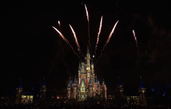 Tinker bell flies during happily ever after