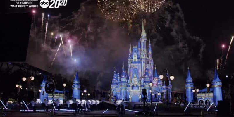 Walt disney world 50th anniversary Cinderella castle