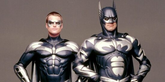 george clooney and chris o donnell - batman and robin