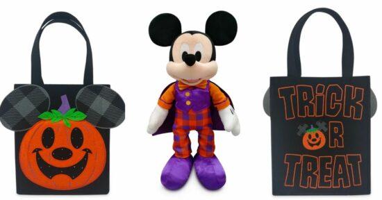 Mickey Halloween plush and trick or treat bag