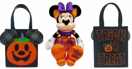 Minnie halloween plush and trick or treat bag