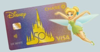 Disney chase visa with tinker bell