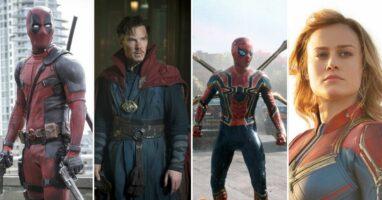Deadpool, Doctor Strange, Spider-Man, and Captain Marvel