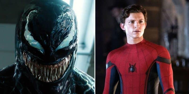 Venom and Spider-Man (Tom Holland)
