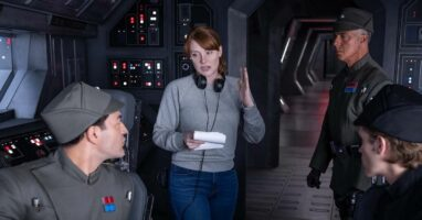 "Bryce Dallas Howard on set of ""The Mandalorian"" season 2"