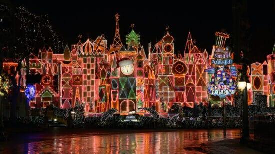 its a small world holiday at disneyland