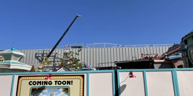 mickeys toontown construction in disneyland