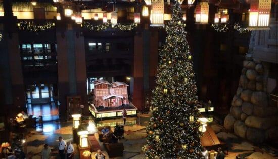 Christmas tree at grand californian hotel