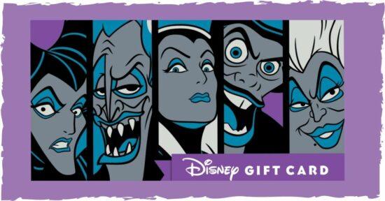 Villains Disney giftcard