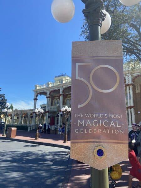 50th banner magic kingdom