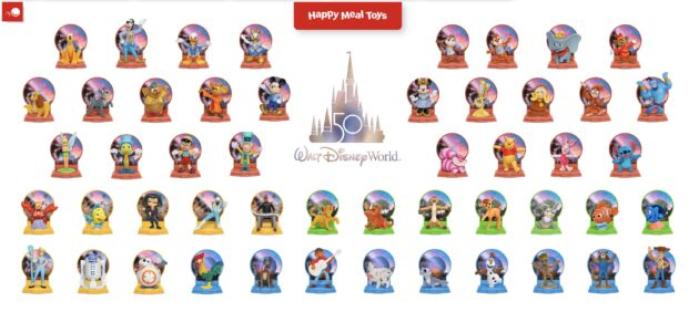McDonald's Disney 50 Toys