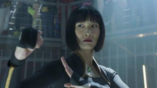 Meng'er Zhang as Xialing in Marvels Shang Chi and the Legend of the Ten Rings Underground Fight Scene