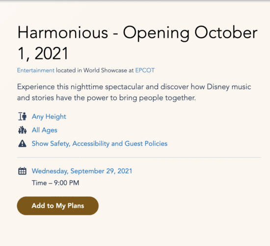Harmonious schedule