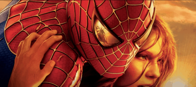 Spider-Man and Mary-Jane with Doctor Octopus in Spider-Man's eye