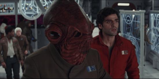 Admiral Ackbar with Poe Dameron