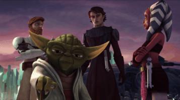 Yoda, Obi-Wan Kenobi, Anakin Skywalker and Ahsoka Tano