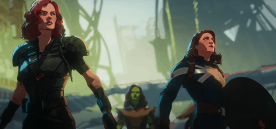 Black Widow, Captain Carter and Gamora