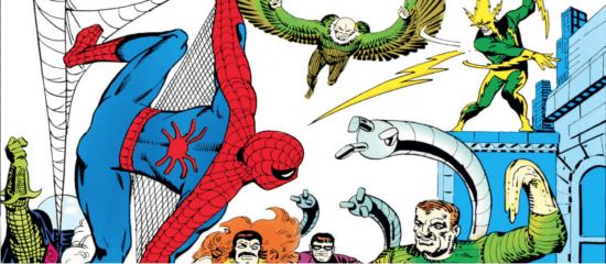 Spider-Man facing the Sinister Six