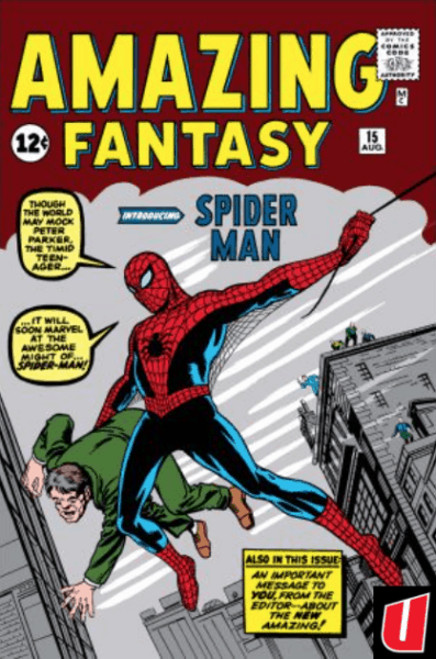 Cover of Amazing Fantasy by Steve Ditko