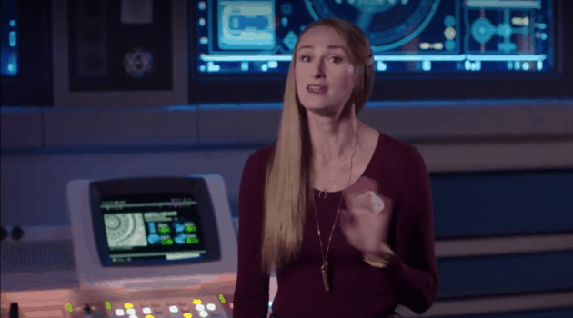 Ann Morrow Johnson on the Star Wars: Galactic Starcruiser bridge