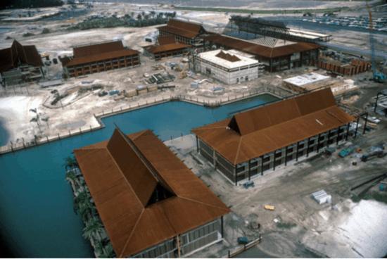 Polynesian Resort early construction
