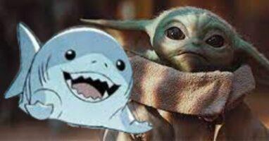 Star Wars Grogu Baby Yoda with Marvel Jeff the Land Shark Cute Characters