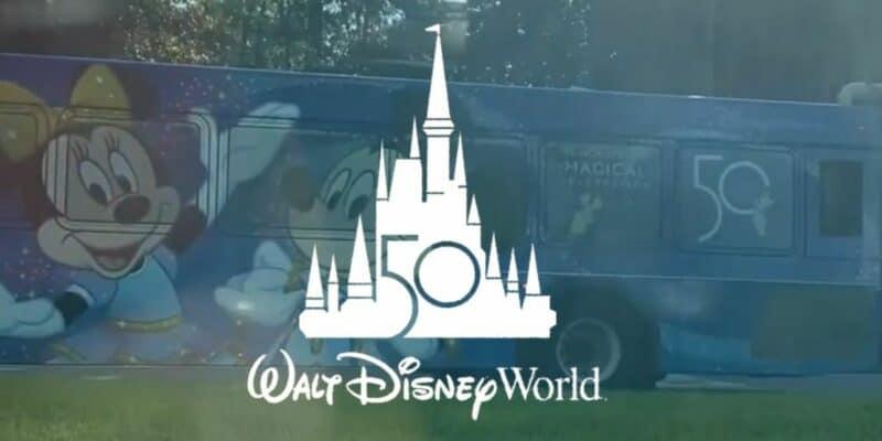 disney world 50th bus