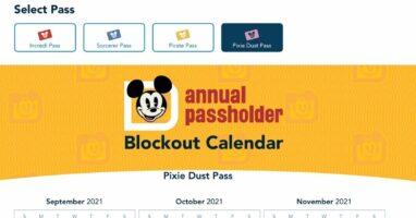 annual pass park pass calendar