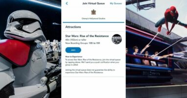 rise of the resistance (left) virtual queue (middle) web slingers (right)