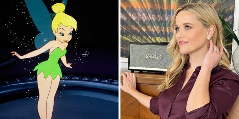 tinker bell (left) reese witherspoon (right)