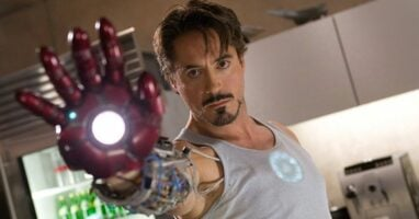 "Robert Downey, Jr. as Tony Stark/Iron Man in ""Iron Man"" (2008)"