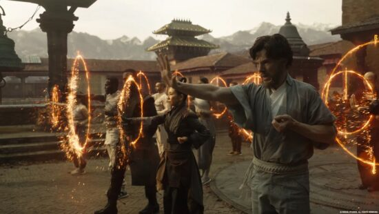 benedict cumberbatch as doctor strange training in kamar taj