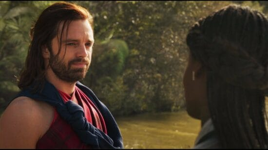 bucky barnes and shuri in black panther post credits scene
